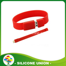 Hot Sälj Fashion Red Silicone 8GB USB Armband