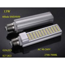 Novo Dimmable 13W Rotatable PLC E27 G24 Luz da lâmpada do bulbo do diodo emissor de luz