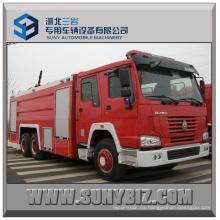 Sinotruk HOWO 6X4 City Tanque de agua Camión de lucha contra incendios