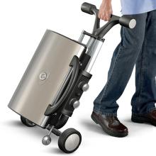 Grade portátil dobrável do BBQ do gás do estilo da bagagem