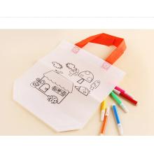 KID DIY saco para colorir bolsa de cordão não-tecida