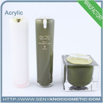 2015 новых косметических упаковки крем бутылки акриловые банки акриловые упаковки