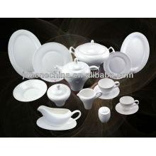 Nuevo estilo real pliegue blanco hueso china