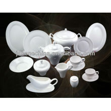 new royal style plain white bone china