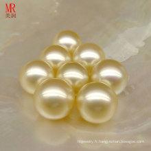 Perles en vrac Genine Southsea en or 11mm