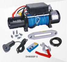 合成繊維ロープ 8000 ポンド 12 v ミニ オフロード電動ウインチ
