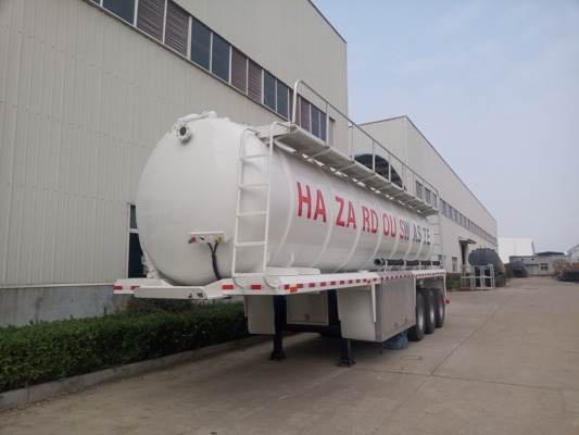 Stainless Steel Sewage Vacuum Suction Tanker Semi Trailer