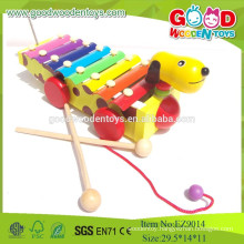Popular Musical Kids Wooden Toys,New Dog Design 8 Xylophone , Musical Toys Music Instruments
