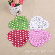 Different Color Heart Lace Paper Doilies