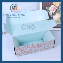 Boîte de papier à gâteau plié avec couvercle