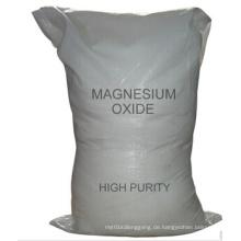 Weißes oder gelbes Pulver 90% Min. Magnesiumoxid für Industrie