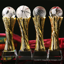 Crystal Glass Trophy Craft for Ball Sport