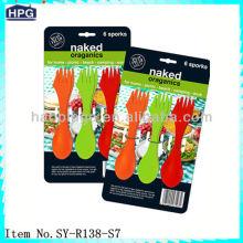 Reusable plastic flatware reusable spork plastic cutlery set