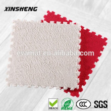 2016 XQS Good Quality Multi-Function Plush Eva Foam Mat/Plush Eva Sheet/Plush Eva Mat