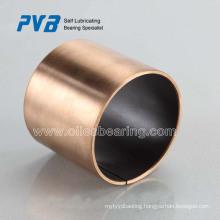 Sliding Bearing PTFE coated bronze backing DU bushing,oilless dry bush