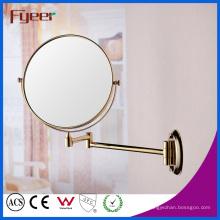 Fyeer круглый Зеркало для макияжа Золотой стене, складные зеркала (M0128G)