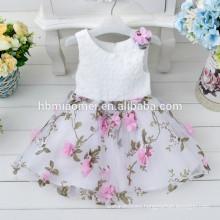 Wholesale Fashion Apparel Factory Summer Girls Party Flower Girls Dress