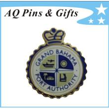 Insignia de la policía del metal con el Pin del comercio del Cloisonne (insignia-022)