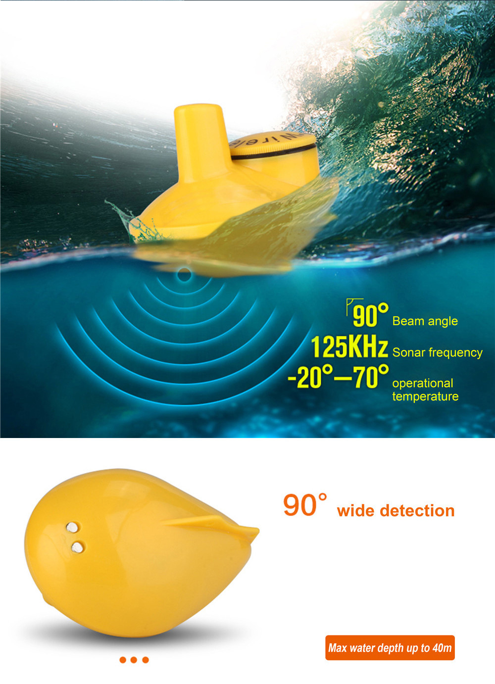 Sonar for fishing Drone