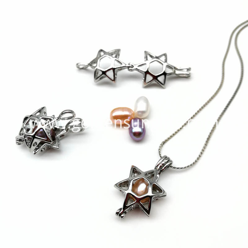 Star Cage Pendant Necklaces