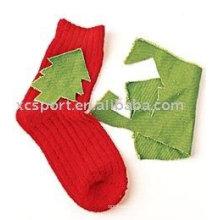 Children Christmas tree socks