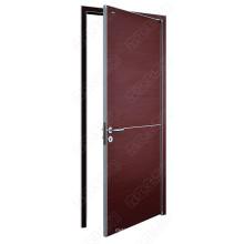 Ouvrez la porte extérieure. Portes en bois avec contreplaqué et finition en stratifié. Portes ignifuges en bois pour le choix