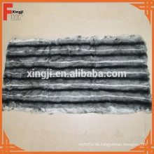 Rex Kaninchenhaut Platte gefärbt Chinchilla Farbe sechs weiße Streifen