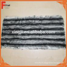Rex plaque de peau de lapin teints chinchilla couleur six bandes blanches