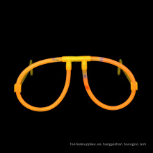 Gafas de palo de brillo naranja
