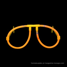 Óculos de fulgor laranja