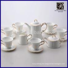 Neue Art reizend Art und Weise goldener Rand-Kaffee-Satzteesatz