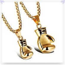 Moda casal pingente colar de jóias de aço inoxidável (nk186)