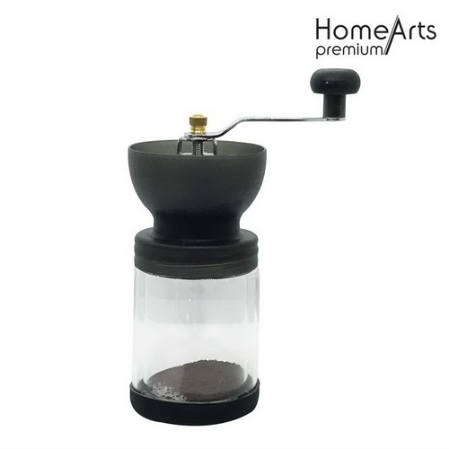 Glass bottle manual coffee blender mill