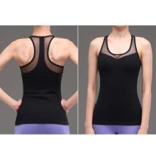 Женщины простой дизайн без рукавов сжатия тренажерный зал одежда