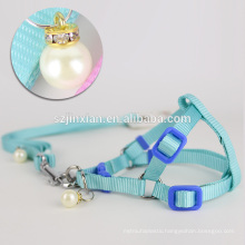 Best quality pet products dog harness with pearl pendant