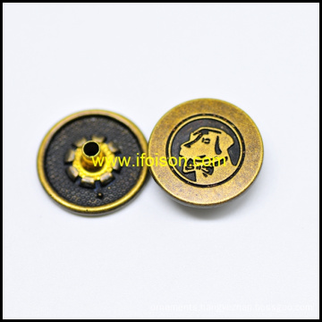 Alloy Snap Button with Dog Parttern