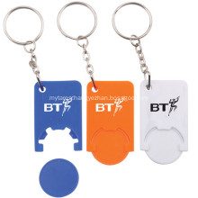 Promotional Printed Logo Key Holder with Coin