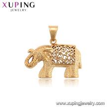 34202 xuping banhado a ouro animal forma série elefante pingente neutro