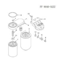 Kraftstofffilter von Cummins Diesel Motor