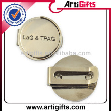 Cheap custom metal golf cap clip ball marker