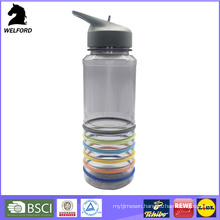 Sports Water Bottle with Thin Silicone Band