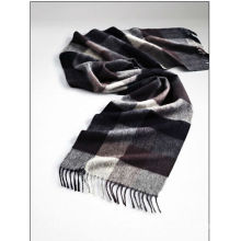 Checked pattern mens fleece scarf decorations