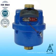 Compteur d'eau volumétrique à Piston rotatif Type laiton corps