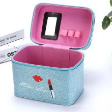 Wholesale luxury custom beauty cosmetic makeup bag toiletry bag