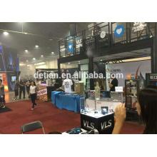 Freier Ausstellungsstand des Ausstellungsstandes, Ausstellungsstand des Doppeldecks, freie Standdesign und Aufbau