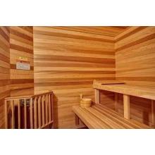 Panneau décoratif en bois de sauna en cèdre