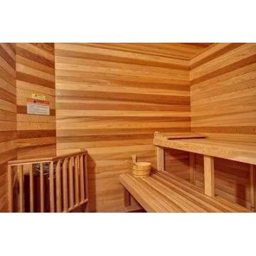 Panel decorativo de madera de sauna de cedro