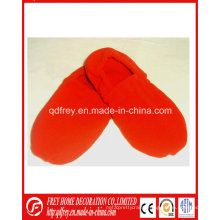 Red Color Soft Microwaveable Slipper with Lavender Wheat Bag