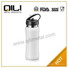 Hohe Qualität 18/8 Edelstahl 500ml einlagige Sport Wasserflasche mit Stroh