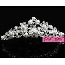 Bijoux en cristal de mode couronne de couronne de luxe